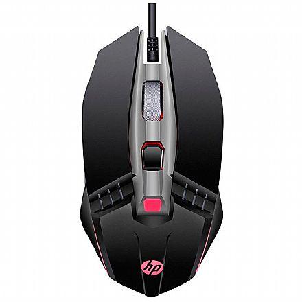 Mouse Gamer HP M270 - 2400dpi - 6 Botões - LED 4 Cores - Preto - 7ZZ87AA