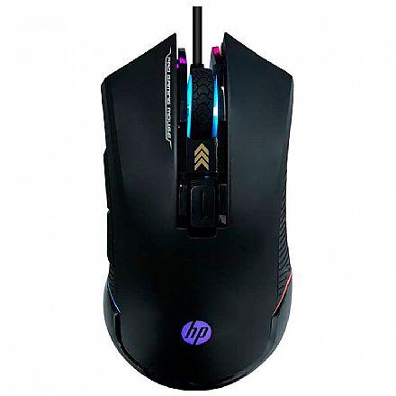 Mouse Gamer HP G360 - 6200dpi - 6 Botões - LED RGB - Preto - 7QV33AA