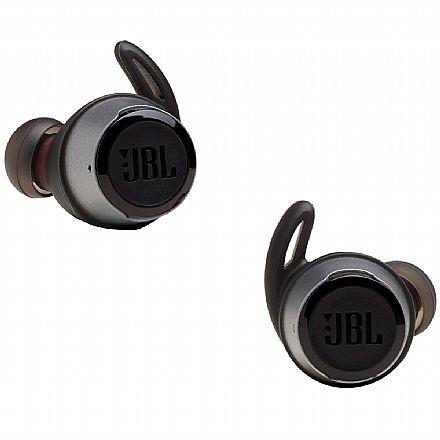 Fone de Ouvido Bluetooth Earbud JBL Reflect Flow - com Microfone - com Case Carregador - A prova d`água - Preto - JBLREFFLOWBLK
