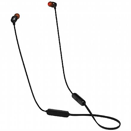 Fone de Ouvido Bluetooth Intra-Auricular JBL Tune 115BT - com Microfone - Preto - JBLT115BTBLK