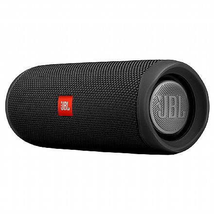 Caixa de Som Portátil JBL Flip 5 - Bluetooth - À Prova d`água - 20W RMS - Preta - JBLFLIP5BLK