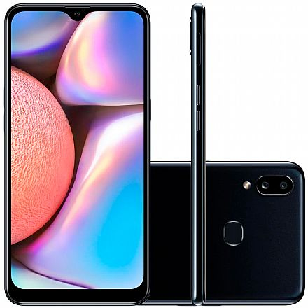 "Smartphone Samsung Galaxy A10s - Tela 6.2"" HD+, 32GB, Dual Chip 4G, Câmera Dupla 13MP - Preto - A107M/32DL"