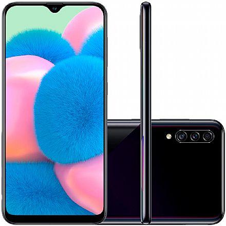 "Smartphone Samsung Galaxy A30s - Tela 6.4"" HD+, 64GB, Dual Chip 4G, Câmera Tripla 25MP - Preto - A307GT/6DL"