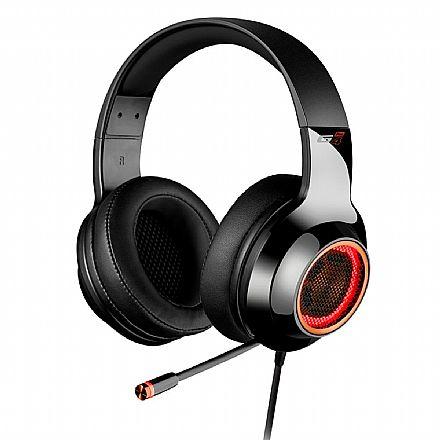 Headset Gamer Edifier G4 Pro - 7.1 Canais - com Vibração e LED - Microfone Retrátil - USB - Preto