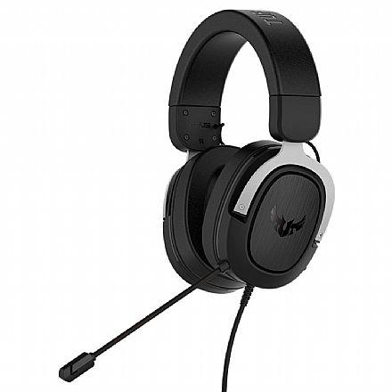 Headset Gamer Asus TUF Gaming H3 - com Microfone - 7.1 Canais - Conector 3.5mm - Prata - 90YH025S-B1UA00