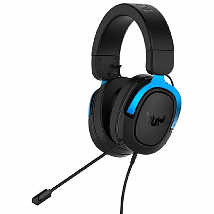 Headset Gamer Asus TUF Gaming H3 - com Microfone - 7.1 Canais - Conector 3.5mm - Azul - 90YH029B-B1UA00
