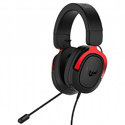 Headset Gamer Asus TUF Gaming H3 - com Microfone - 7.1 Canais - Conector 3.5mm - Vermelho - 90YH02AR-B1UA00