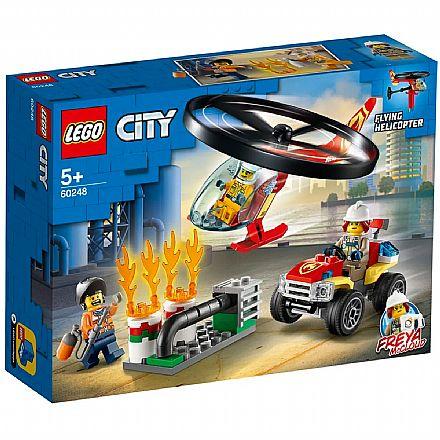 LEGO City - Combate ao Fogo com Helicoptero - 60248