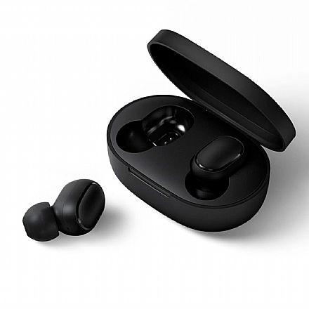 Fone de Ouvido Bluetooth Earbud Xiaomi Redmi Airdots - com Microfone - com Case Carregador - Preto