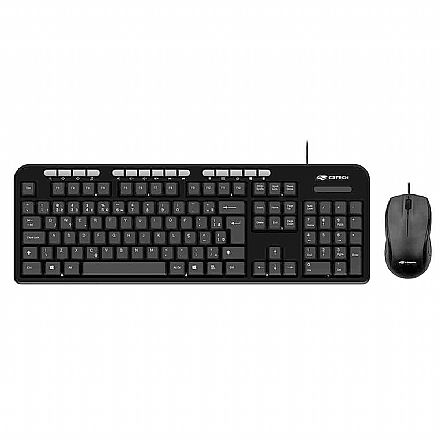 Kit Teclado e Mouse C3 Tech KT-100BK - ABNT2 - 1600dpi - Teclas Multimídia