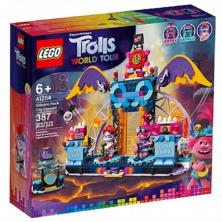 LEGO Trolls - World Tour - Concerto Vulcão Rock City - 41254