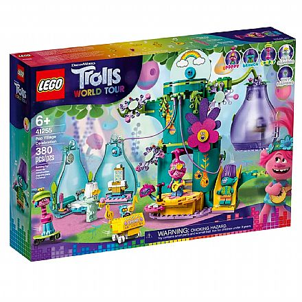 LEGO Trolls - World Tour - Festejo na Aldeia Pop - 41255