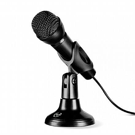 Microfone Dinâmico NOX KROM - Cabo 1,5m - P2 - Perfeito para streaming, podcasting, live etc - NXKROMKYP