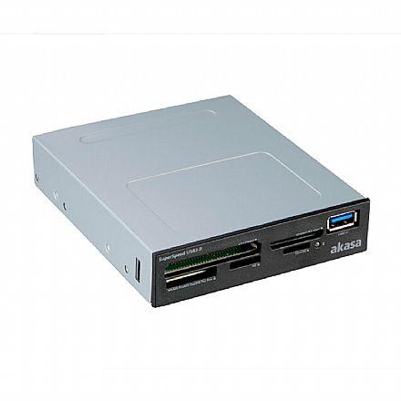 Leitor de Cartão de Memória Interno com USB 3.0 - Akasa AK-ICR-27