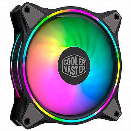 Cooler 120x120mm Cooler Master Masterfan MF120 HALO - LED RGB - MFL-B2DN-18NPA-R1