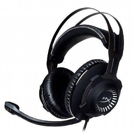 Headset Gamer Kingston HyperX Cloud Revolver - com Microfone - Conector 3.5mm - Preto e Cinza