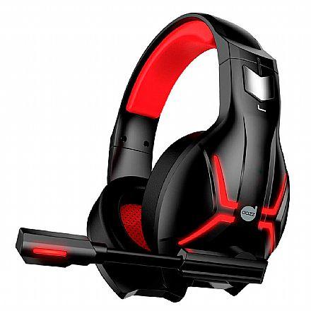 Headset Gamer Dazz Titan 2.0 - com Controle de Volume e Microfone - Conector USB - Vermelho - 624848