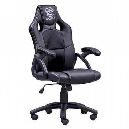 Cadeira Gamer PCYes MAD Racer V6 - Mecanismo de inclinação - MADV6PT - Preto