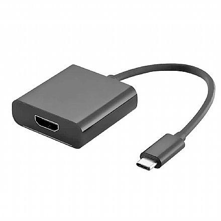 Adaptador Conversor USB-C para HDMI - 4K - USB Tipo C - Multilaser WI373
