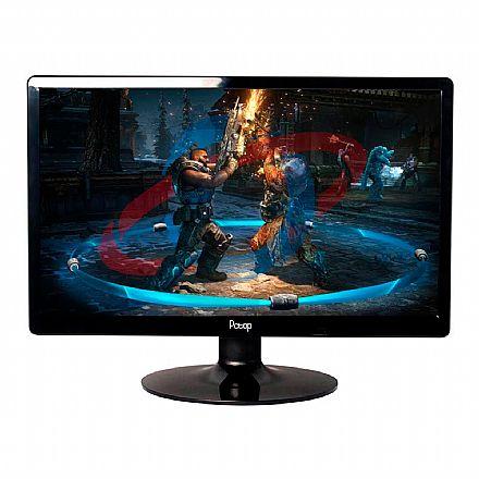 """Monitor 19"""" PCTop Slim MLP190HDMI - Widescreen - 60Hz - 5ms - Furação Vesa - HDMI/VGA"""
