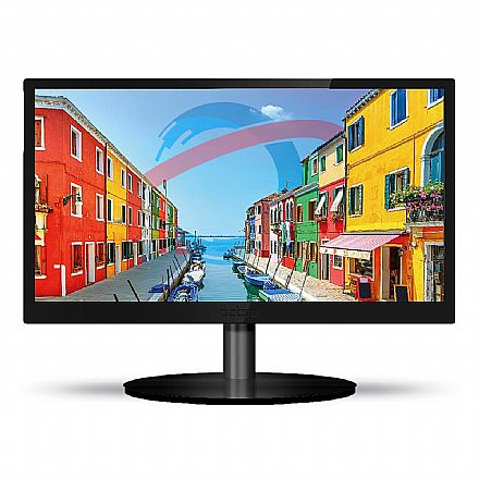 "Monitor 23.6"" PCTop Slim MLP236HDMI - Full HD - 60Hz - 5ms - Furação Vesa - HDMI/VGA"