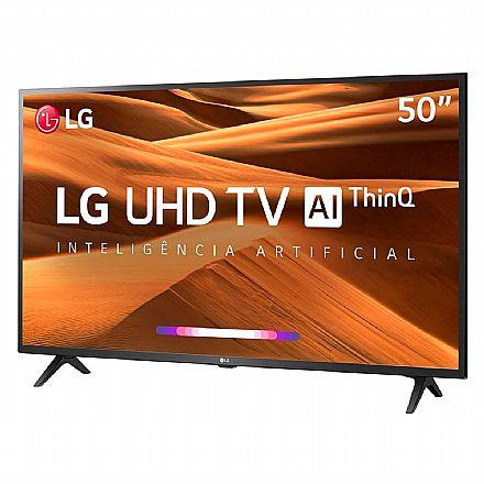 "TV 50"" LG 50UM7360 - Smart TV - Ultra HD 4K - HDR Ativo - Inteligência Artificial ThinQ - WebOS 4.5 - Wi-Fi e Bluetooth - HDMI / USB"