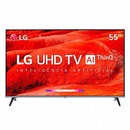 "TV 55"" LG 55UM7520 - Smart TV - Ultra HD 4K - HDR Ativo - Inteligência Artificial ThinQ - WebOS 4.5 - Wi-Fi e Bluetooth - HDMI / USB"