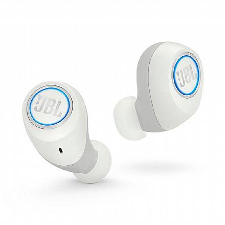Fone de Ouvido Bluetooth Earbud JBL Free X - com Microfone - com Case carregador - À prova de respingos - Branco - JBLFREEXWHTBT