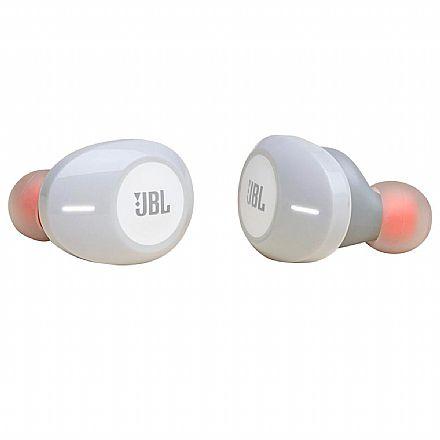 Fone de Ouvido Bluetooth Earbud JBL Tune 120TWS - com Microfone - com Case carregador - Branco - JBLT120TWSWHT
