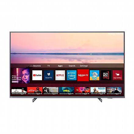 "TV 55"" Philips 55PUG6794 - Smart TV - 4K Ultra HD - Ambilight trilateral - HDR 10+ - Wi-Fi e Bluetooth - HDMI / USB"