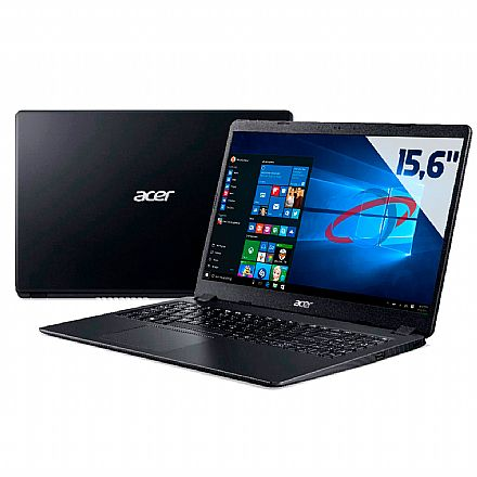 "Notebook Acer Aspire A315-54 - Tela 15.6"", Intel i5 10210U, 8GB, HD 1TB, Windows 10"