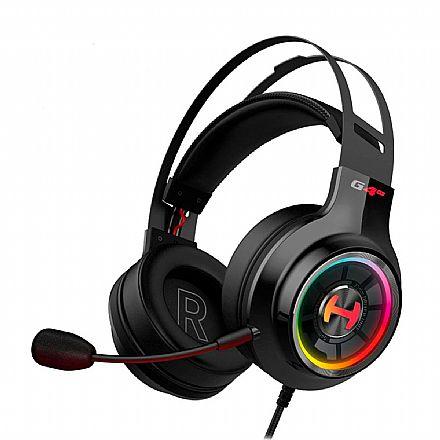 Headset Gamer Edifier G4 TE Hecate - Drivers 50mm - Microfone retrátil - RGB - Conector USB - Preto