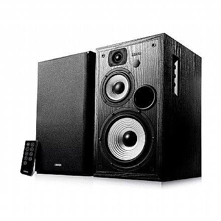 Caixa de Som Bluetooth Edifier R2730DB - 136W RMS - entradas RCA e Óptico - Controle Remoto - Bivolt - Preta