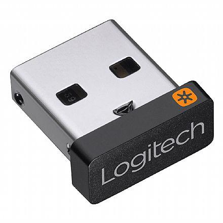 Receptor Logitech Unifying USB - 910-005235 Nano - 2.4GHz - até 6 teclados e mouses compatíveis