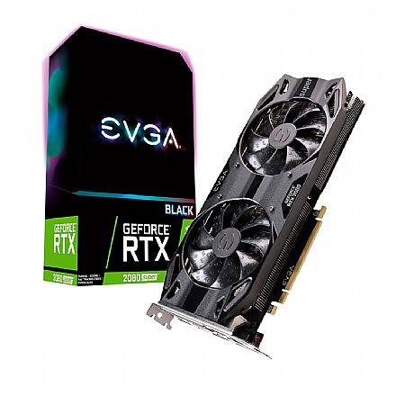 GeForce RTX 2080 Super 8GB GDDR6 256bits - Black Gaming - EVGA 08G-P4-3081-KR