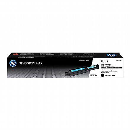 Recarga para HP Neverstop - Toner HP 103A Preto - W1103A - Para HP Neverstop 1000A / 1000W / 1200A / 1200W