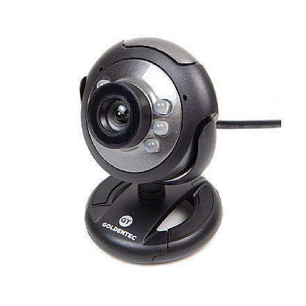 Web Câmera Goldentec GT824 - com Microfone e LED
