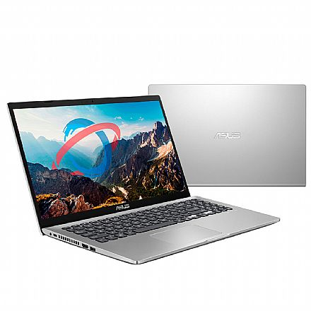 "Notebook Asus X509FA-BR800T - Tela 15.6"", Intel i5 8265U, 16GB, SSD 240GB, Intel HD Graphics, Windows 10 - Prata Metálico"