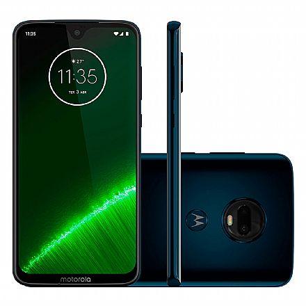 "Smartphone Motorola Moto G7 Plus - Tela 6.2"" Max Vision, 64GB, Dual Chip, 4G, 16MP + 5MP com Dual flash LED, Leitor de Digital - Índigo - XT1965-2"