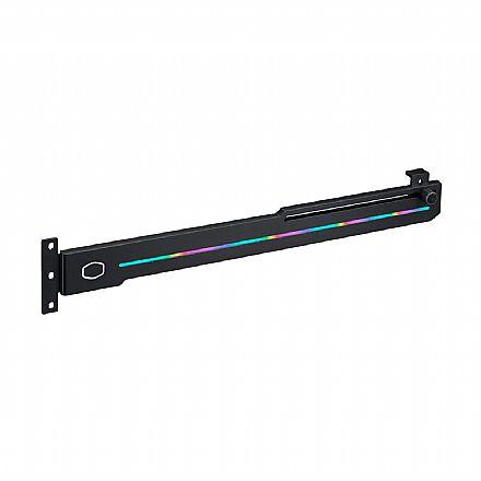Suporte para Placa de Vídeo Cooler Master ELV8 - Suporte ajustável - LED RGB - MAZ-IMGB-N30NA-R1