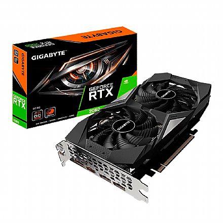 GeForce RTX 2060 6GB GDDR6 192bits - Windforce OC - Gigabyte GV-N2060OC-6GD REV 2.0