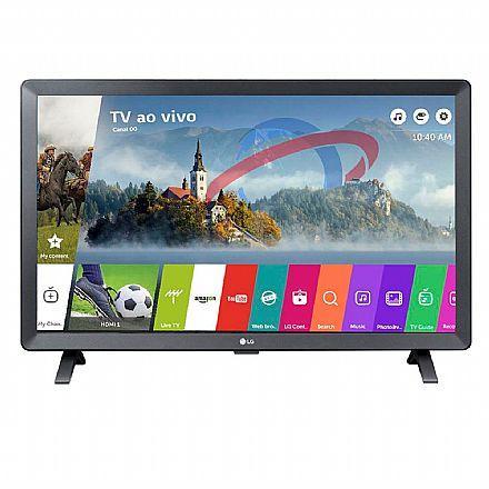 "TV 24"" LG 24TL520S-PS - Smart TV - HD - Wi-Fi - WebOS 3.5 - Screen Share - HDMI / USB"