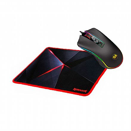 Kit Gamer Redragon - Mouse Cobra Chroma + Mouse Pad Capricorn Medium