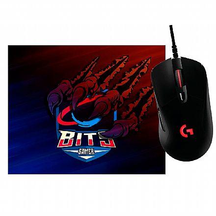 Kit Gamer Logitech - Mouse G403 Prodigy + Mouse Pad Bits Raptor Grande