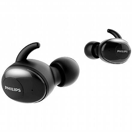 Fone de Ouvido Bluetooth Earbud Philips Upbeat SHB2505BK - com Microfone - com Case Carregador - Preto