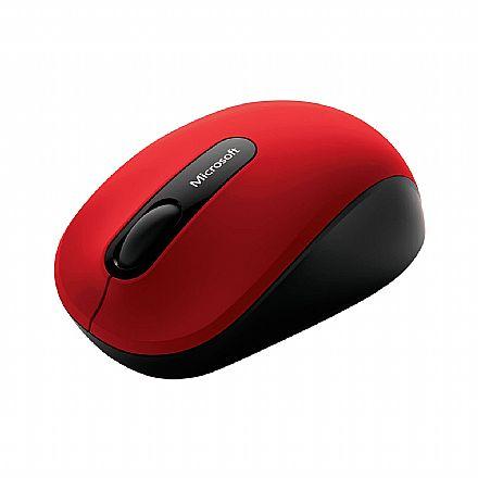 Mouse sem Fio Microsoft Mobile 3600 - BlueTrack Technology - Vermelho - PN7-00018