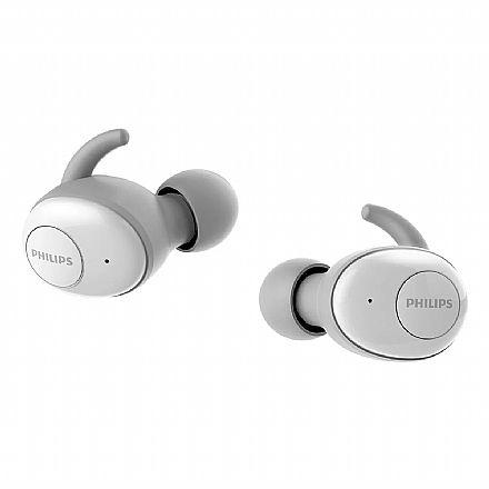Fone de Ouvido Bluetooth Earbud Philips Upbeat SHB2505WT - com Microfone - com Case Carregador - Branco
