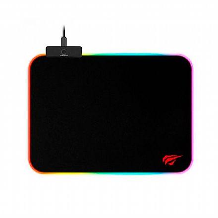 Mouse Pad Gamer Havit RGB Médio - 360 x 260mm - HV-MP901