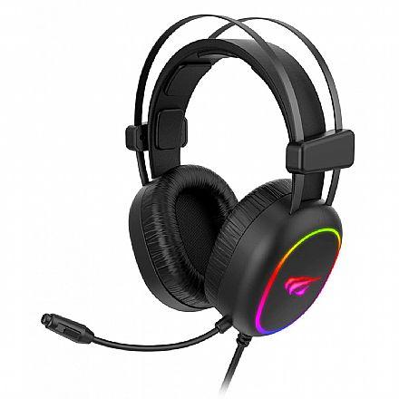 Headset Gamer Havit H2016D - RGB - Conector 3.5mm e USB - HV-H2016D