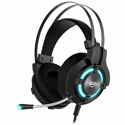 Headset Gamer Havit H2212U - LED 7.1 - Som Surround - Conector USB - HV-H2212U